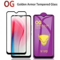 Golden Armor стъклен screen protector за Huawei Y6 2019 / Черен /